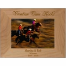 Vacation Time Rocks Personalized Wood Picture Frame