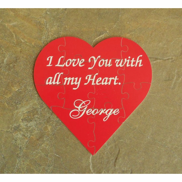 Valentine's Day Gift: Personalized Valentine Heart Jigsaw Puzzle