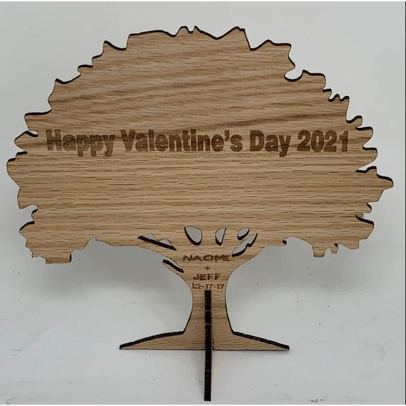Valentine's Day Gift Tree Custom Engraved With Names or Initials