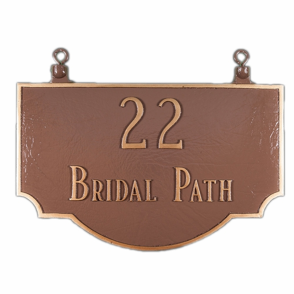 Two Sided Hanging Address Sign - Upside Down Double Sided Arch Address Plaque