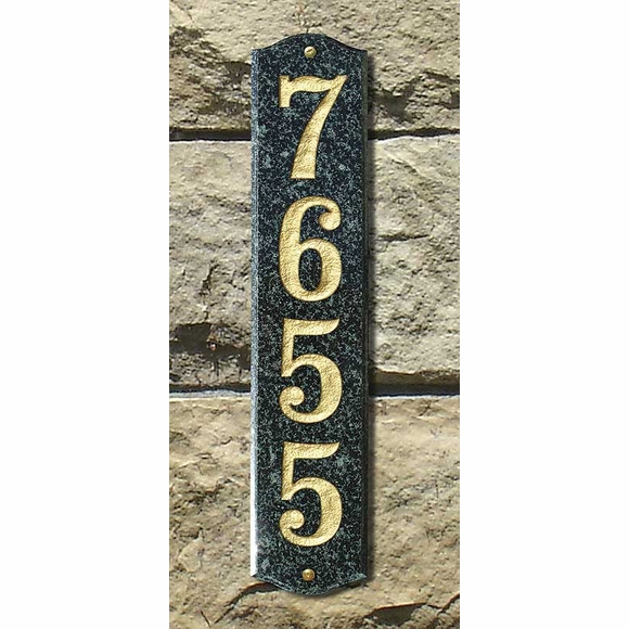 Vertical Address Sign Granite