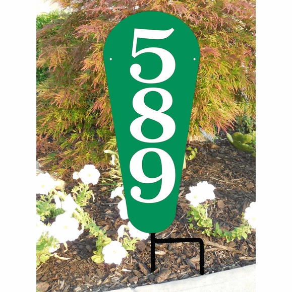 Vertical House Number Lawn Sign