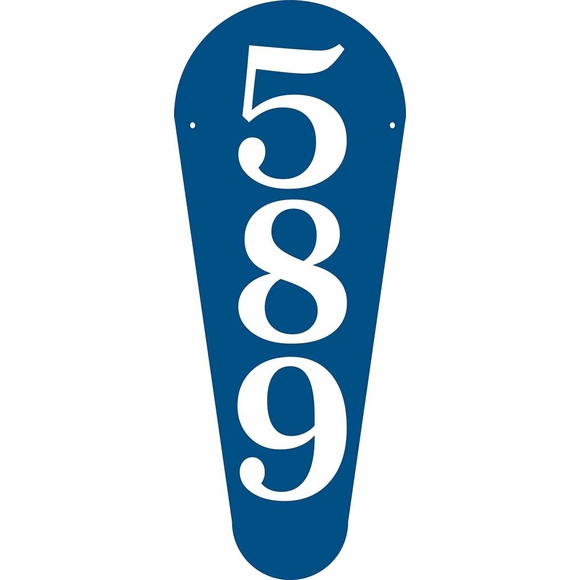 Vertical House Number Sign With Large Numbers - Wall Mount or Optional Lawn Mount
