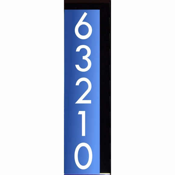 Vertical LED Lighted Address Sign for Wall, Post, or Mailbox