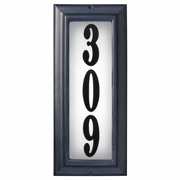 Vertical Lighted House Number