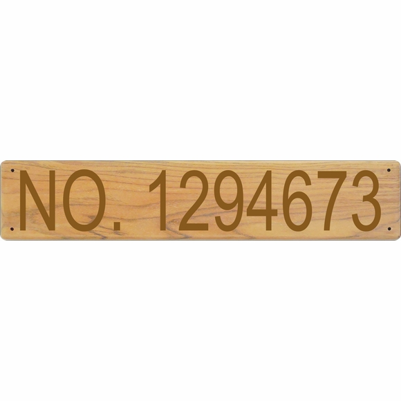 Vessel Documentation Plaque Made from Teak - Meets USCG Hull Identification Requirements