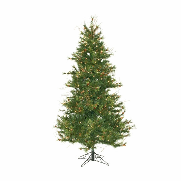 Artificial Christmas Tree - Pre Lit Mixed Country Pine Slim Tree