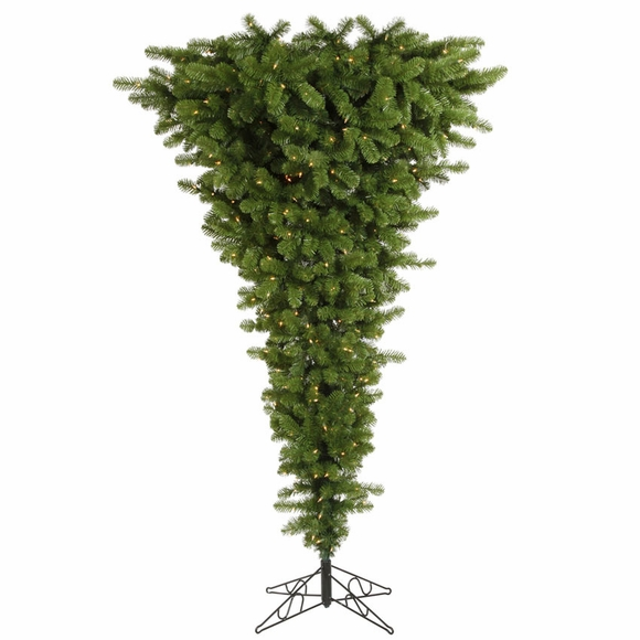 Upside Down Artificial Christmas Tree with Lights
