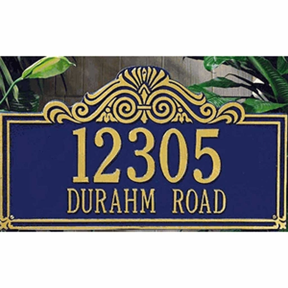Street Address Wall Sign With Scroll Arch Top Design - Choose Your Color