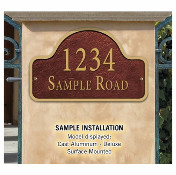 Wall Mounted Address Sign