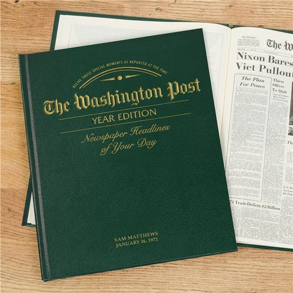Washington Post Year Edition Personalized Historic Newspaper - Birthday or Anniversary Newspaper