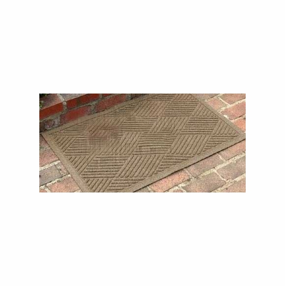 Water Absorbing Doormat in Brown, Charcoal, Gray, Navy Blue, Gold, or Red