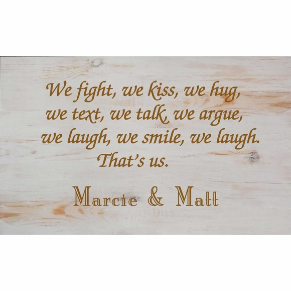 We Fight, We Kiss, We Laugh Personalized Wall Art Plaque For Lovers