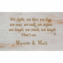 We Fight, We Kiss, We Laugh Personalized Wall Art