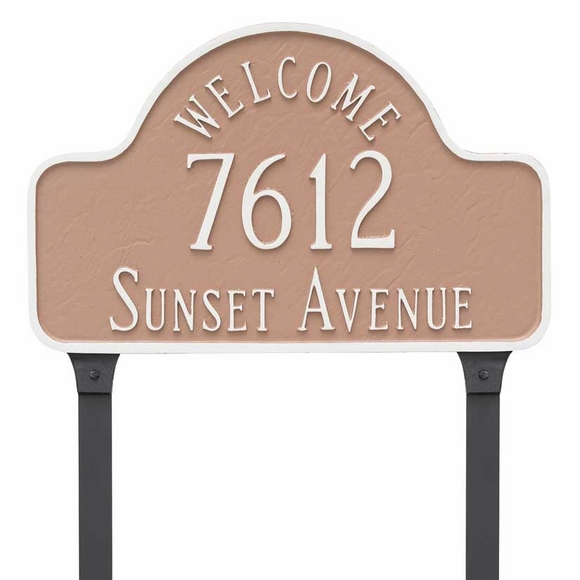 Welcome Arch Lawn Mount Address Plaque