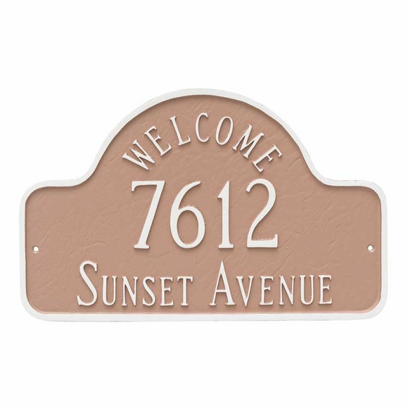 Welcome Arch Wall Mount Address Plaque