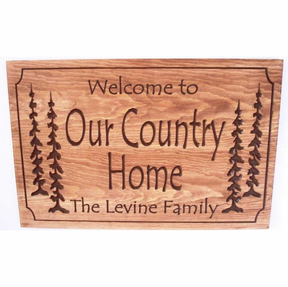 Welcome to Our Country Home Plaque Personalized With Family Name