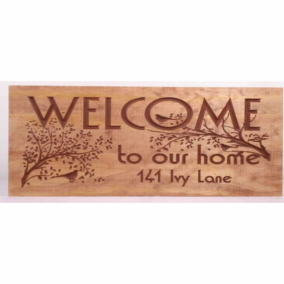 Welcome to Our Home Address Plaque