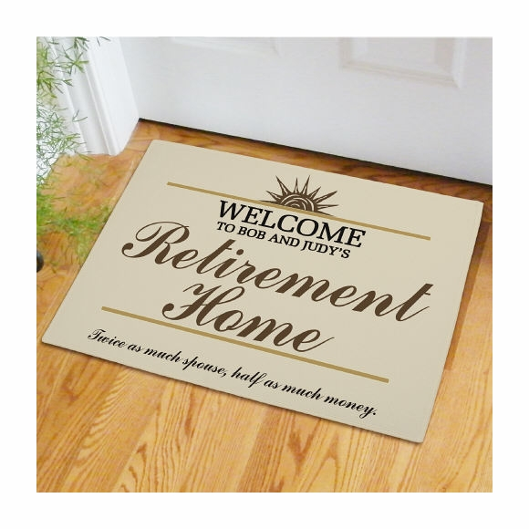 Welcome to Retirement Home Personalized Doormat