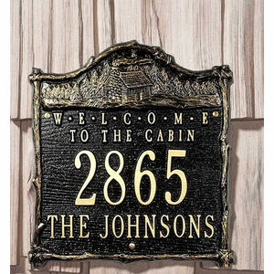 Welcome to the Cabin Personalized Address Sign