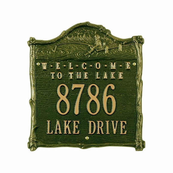 Welcome to the Lake Address Sign - Custom Metal House Number Plaque