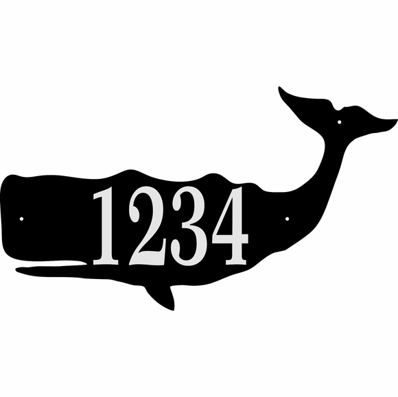Reflective Whale Address Sign