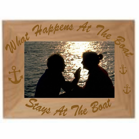What Happens At the Boat Stays At The Boat Picture Frame