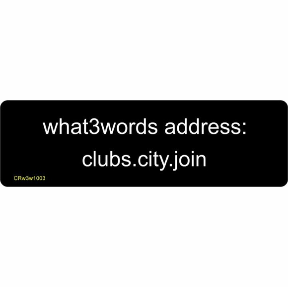 what3words Address Sign - 3 Word House Location Plaque