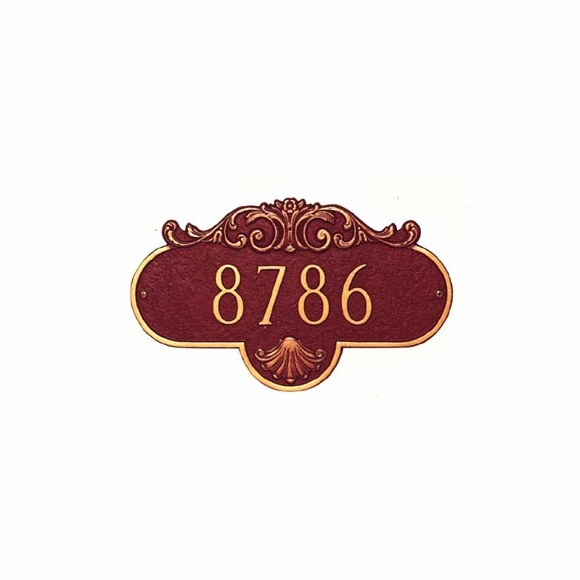 Home Address Plaque With Scroll Decoration