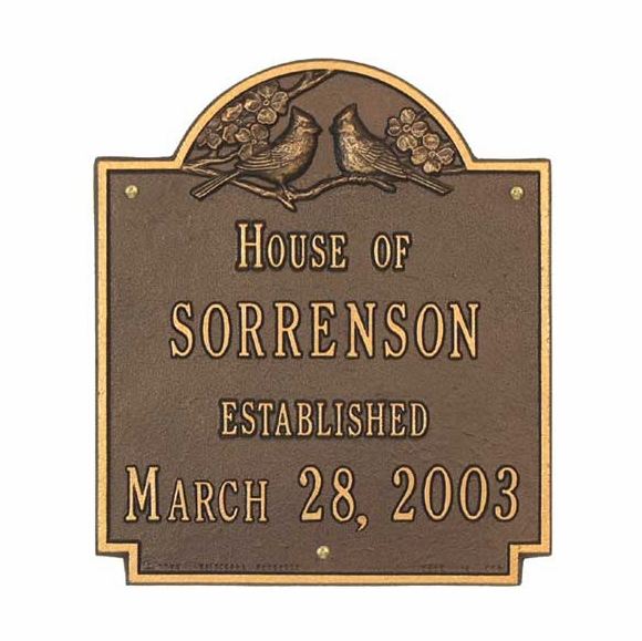 House Of Family Name Established Date Plaque - Wedding or Anniversary Gift