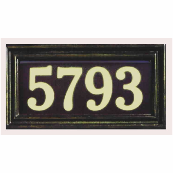 Battery Operated Lighted Address Plaque For Wall or Lawn