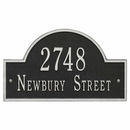 Wall Mount Address Sign - Arch Shape House Marker
