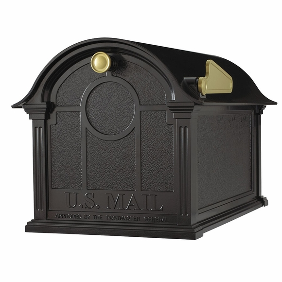 Large Decorative Curbside Post Mounted Mailbox