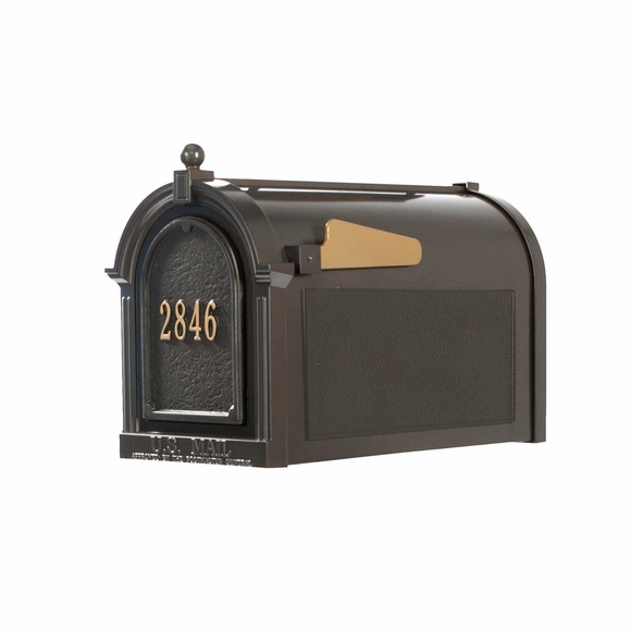 Curbside Mailbox with House Number on Front