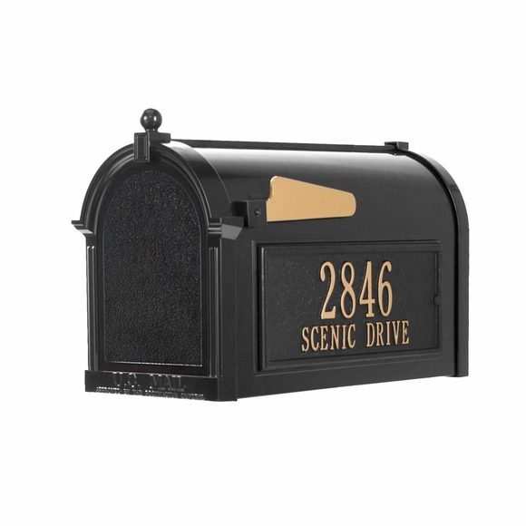 Mailbox with Address Plaques On Sides