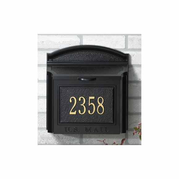 Locking Wall Mount Mailbox With House Address Number
