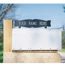 Whitehall Personalized Two Sided One Line Mailbox Sign