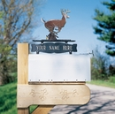 Whitehall Personalized Two Sided One Line Mailbox Sign - Mailbox Topper Address Sign