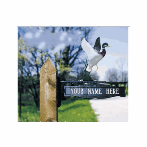 Two Sided Post Mounted Name And Address Sign