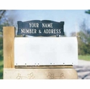 Whitehall Personalized Two Sided Two Line Mailbox Sign