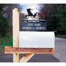 Whitehall Personalized Two Sided Two Line Mailbox Sign - Address Number and Name Topper