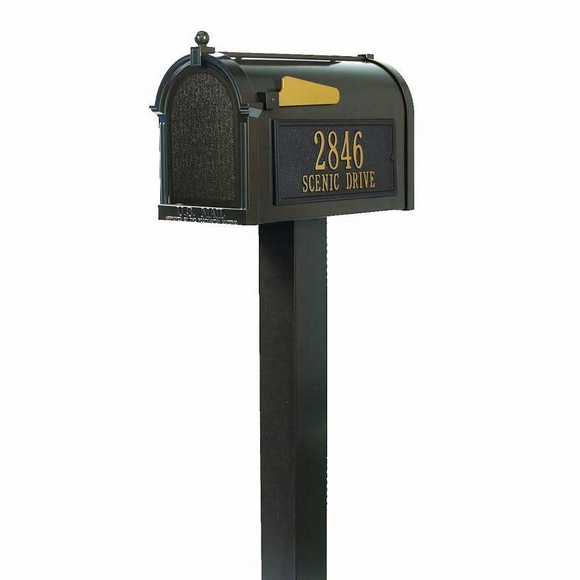 Personalized Curbside Mailbox With Post And Your Address On Both Sides