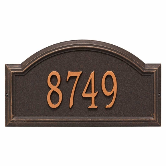 Whitehall Providence Arch Address Plaque Oil Rubbed Bronze