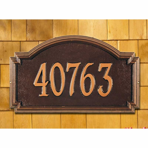 Whitehall Williamsburg Classic Address Plaque Estate Size