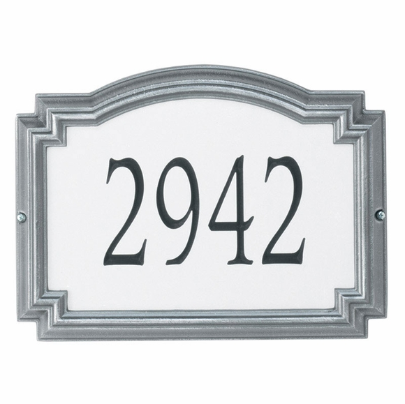 Reflective Address Plaque - Arch Shape House Number Sign