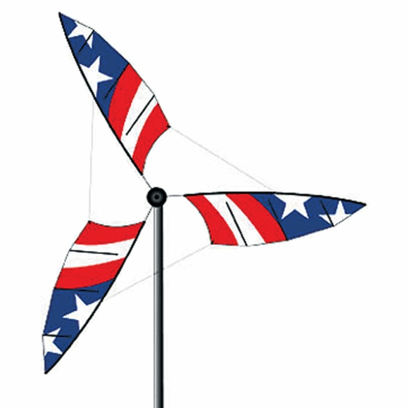 Wind Mill Spinner - Tall Red, White, and Blue Patriotic Spinner