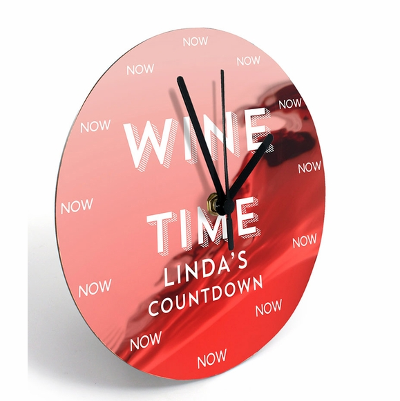 Wine Time Personalized Wall Clock