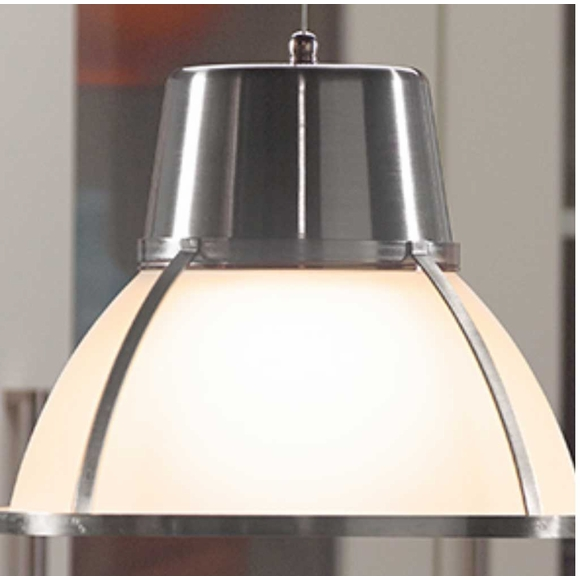 Wireless LED Glass Pendant Light with Dimmer - Bronze or Nickel