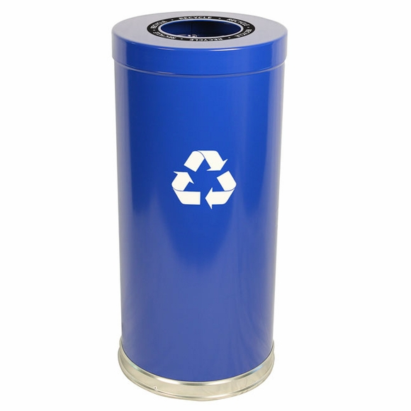Witt 15RTBL-1H Blue Recycling Container