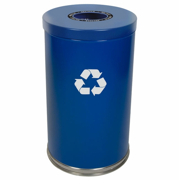 Witt 18RTBL-1H Blue Recycling Container 35 Gallon